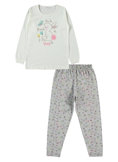 Civil Girls Civil Girls Kız Çocuk Pijama Takımı 10-13 Yaş Pudra Civil Girls Kız Çocuk Pijama Takımı 10-13 Yaş Pudra Ekru